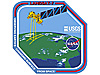 The Landsat 7 mission patch features the satellite over the U.S. and the USGS and NASA logos
