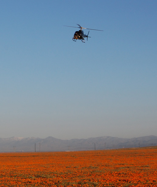 Helicopter used for testing a radar that will serve during the next landing on Mars