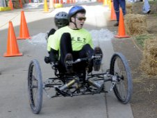 Erie High School team competes in 2010 Great Moonbuggy Race.