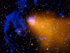 Composite image of the galaxy cluster Abell 3376