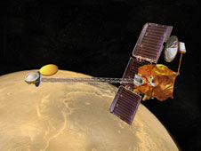 Artist concept of Mars Odyssey spacecraft