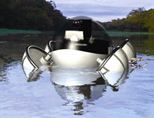 Robot designed to collect Amazon environmental information, developed by the Petrobras robotics laboratory