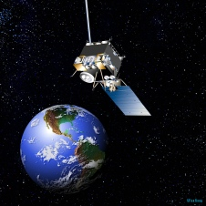 artists concept of GOES-13 orbiting the earth