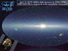 Still from video showing visualization of timeline of gamma ray bursts