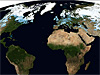 Image of Earth taken by the Terra satellite