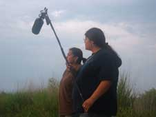 Students from Haskell Indian Nations University in Lawrence, Kan.,  filmed a segment in August 2008 for the documentary Where Words Touch  the Earth.