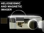 Screen capture from HMI video showing the SDO Helioseismic and Magnetic Imager (HMI) instrument.