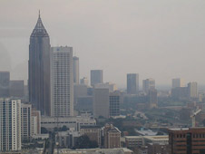 Smog in downtown Atlanta, Georgia, June 2009
