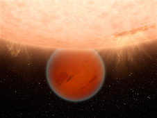 Artist's concept of a methane-free planet
