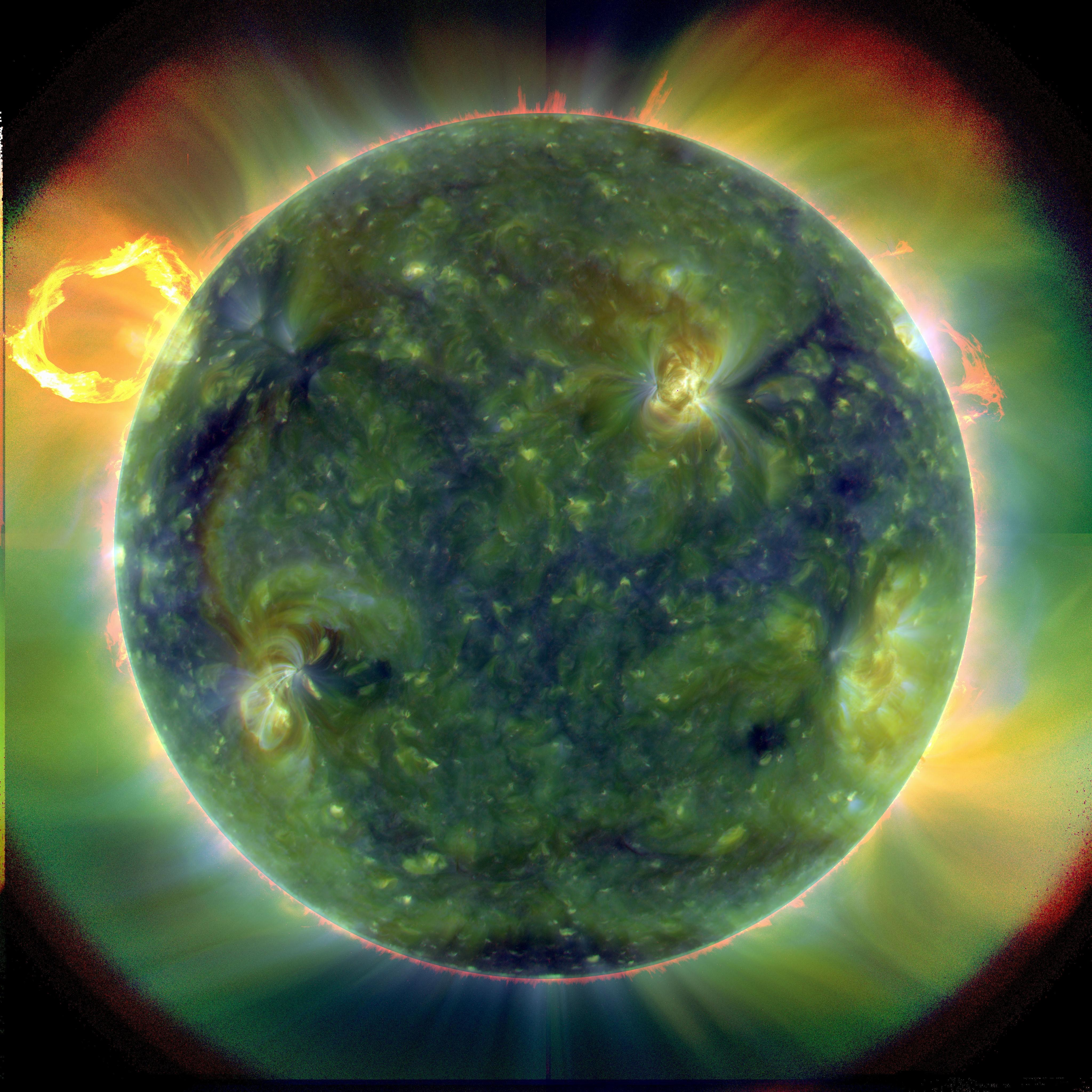 SDO First Light Composite Image from March 30, 2010