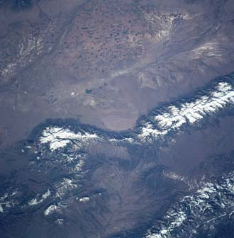 STS-90 Shuttle crew snapped this image from space of what is now Columbia Point in Colorado's Sangre de Cristo Mountains.