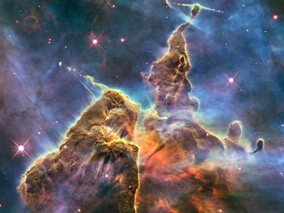 The Birth of Stars This new Hubble photo is but a small portion of one of