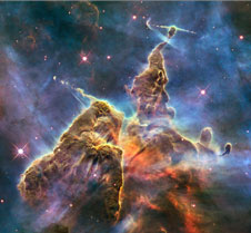 The Carina Nebula as seen by the Hubble Space Telescope.
