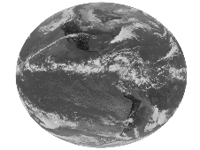 GOES-15's first full-disk infrared image of the Earth