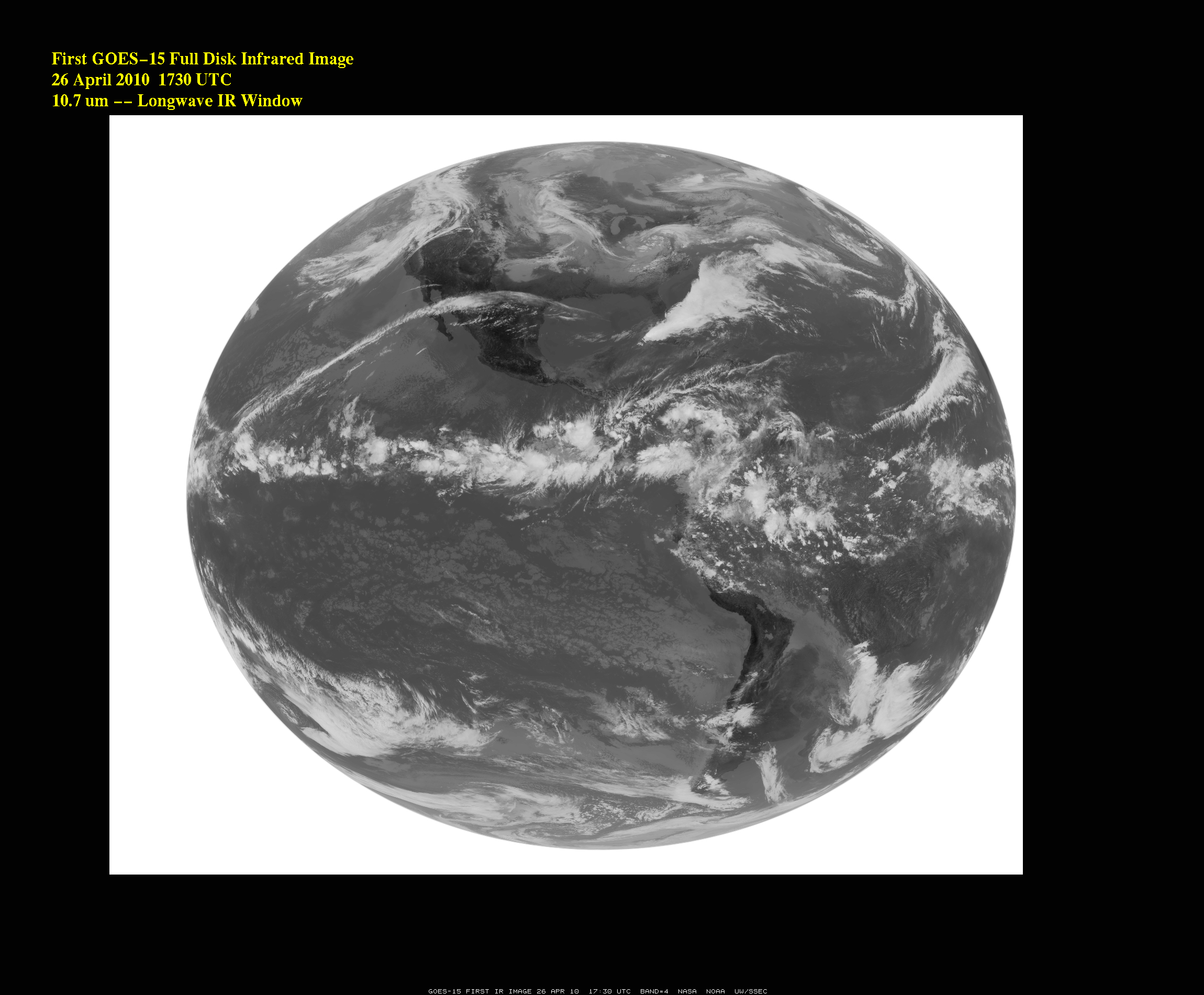 "NASA - GOES-15 Opens Its Infrared ""Eyes"" for First Image"