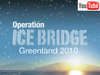 "Icy landscape with snowing sky with title ""Operation IceBridge Greenland 2010"" and the YouTube logo."