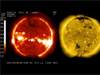 Image of the sun from video: A Weather Satellite Watches The Sun