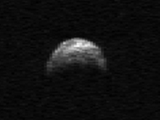 Radar image of asteroid 2005 YU55