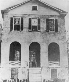 The only remaining photograph of the original home of George Wythe, taken in 1905