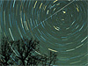 Meteors create a swirl in this time-lapsed photo