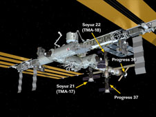 ISS Progress 37 Docked to International Space Station May 1, 2010