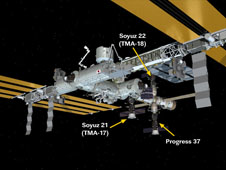ISS Progress 36 undocked from International Space Station May 10, 2010