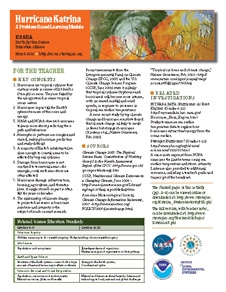 First page of Hurricane Katrina: A Problem-Based Learning Module