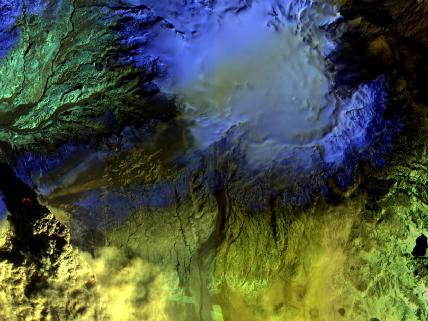 Eyjafjallajökull Volcano in Infrared