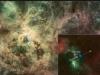 Runaway star inset in 30 Doradus nebula