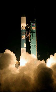 Boeing Delta II rockets launches carrying NASA's CALIPSO and CloudSat satellites