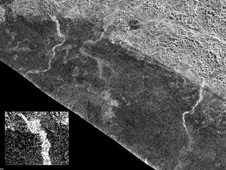 Channels on Saturn's moon Titan