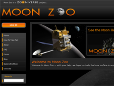 Screen capture of the Moon Zoo site.