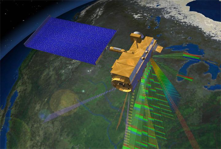 NASA NASA Deploys Planes Targets Satellites To Aid In Oil Spill - Satellite mexico map