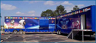photograph of ISS Traveling Trailer Exhibit