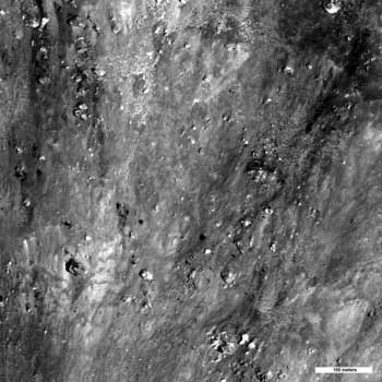 Boulders and impact melt on the Moon