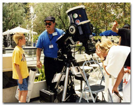 Matthew Ota at JPL's Open House.