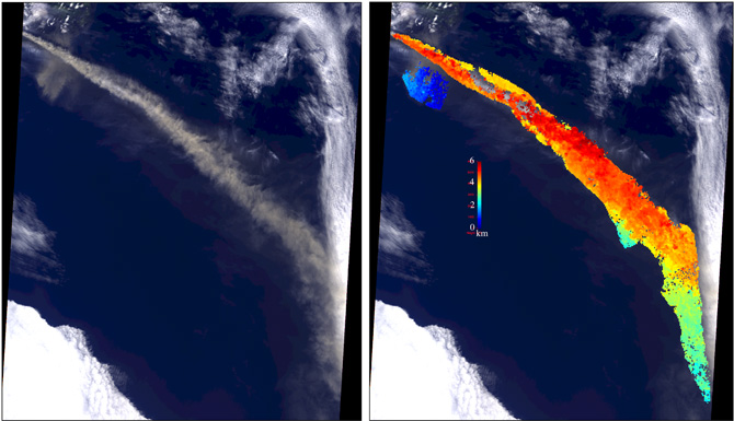 Iceland's Eyjafjallajökull volcano produced its second major ash plume of 2010 beginning on May 7.