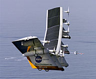 The helios aircraft in flight