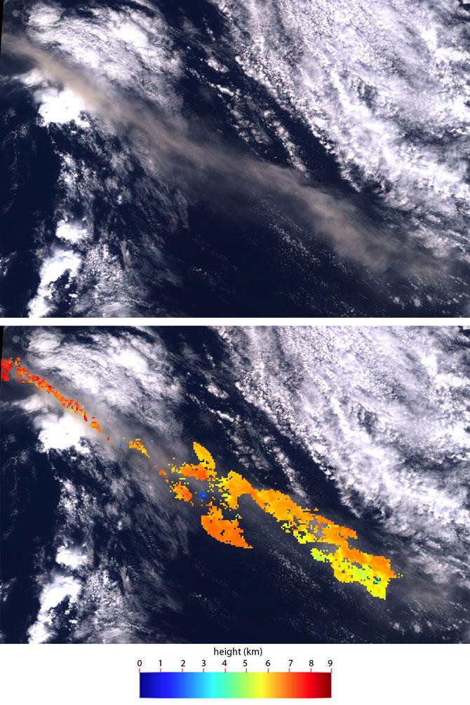 NASA - Archive: NASA Observes Ash Plume of Icelandic Volcano