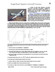 First page of Problem 6, Single Event Upsets in Aircraft Avionics