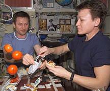 ISS food preparation