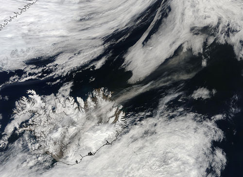 Iceland's volcanic plume from May 18, 2010