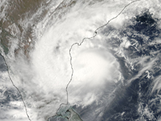 satellite image of Laila storm