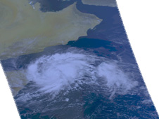 satellite image of Tropical Storm 02A