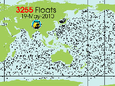 Map of Argo free-floating profiling floats