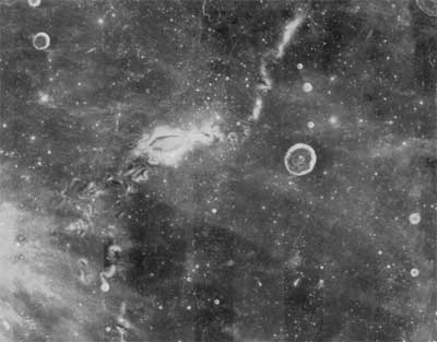 The Reiner Gamma region on the lunar nearside  has an unusual surface feature called a lunar swirl.
