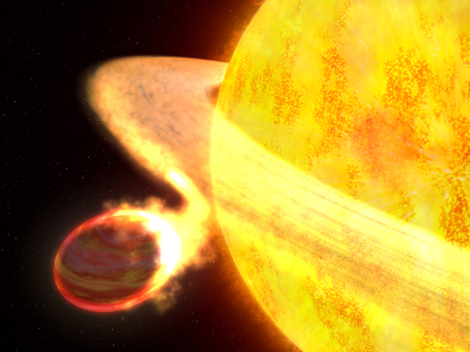 Artist's concept of the exoplanet WASP-12b.