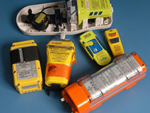 variety of emergency beacons