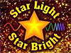 A cartoon star surrounded by the words Star Light Star Bright