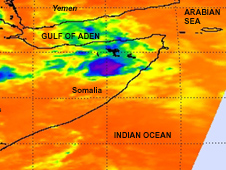Thermal image of Tropical Cyclone Bandu